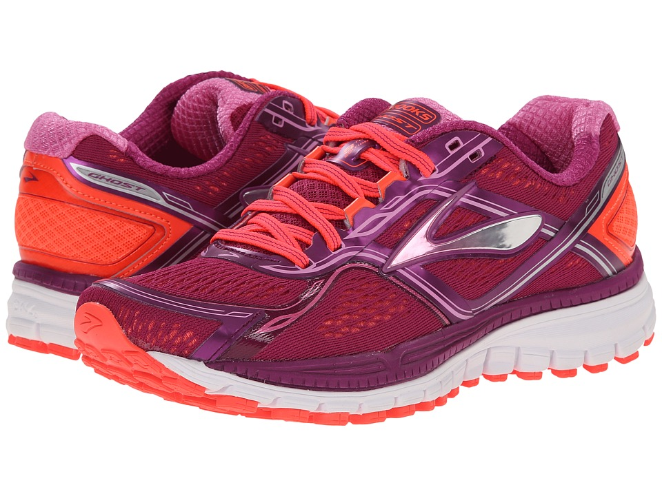 Brooks Ghost 8 (Phlox/Phlox Pink/Fiery Coral) Women
