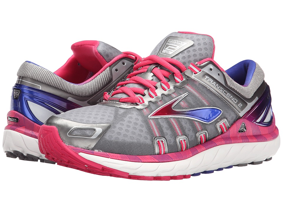 Brooks - Transcend 2 (Metallic Charcoal/Raspberry/Spectrum Blue) Women's Running Shoes