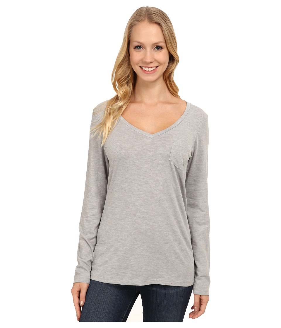 Columbia - Everyday Kenzie V-Neck Long Sleeve (Light Grey Heather) Women's Long Sleeve Pullover