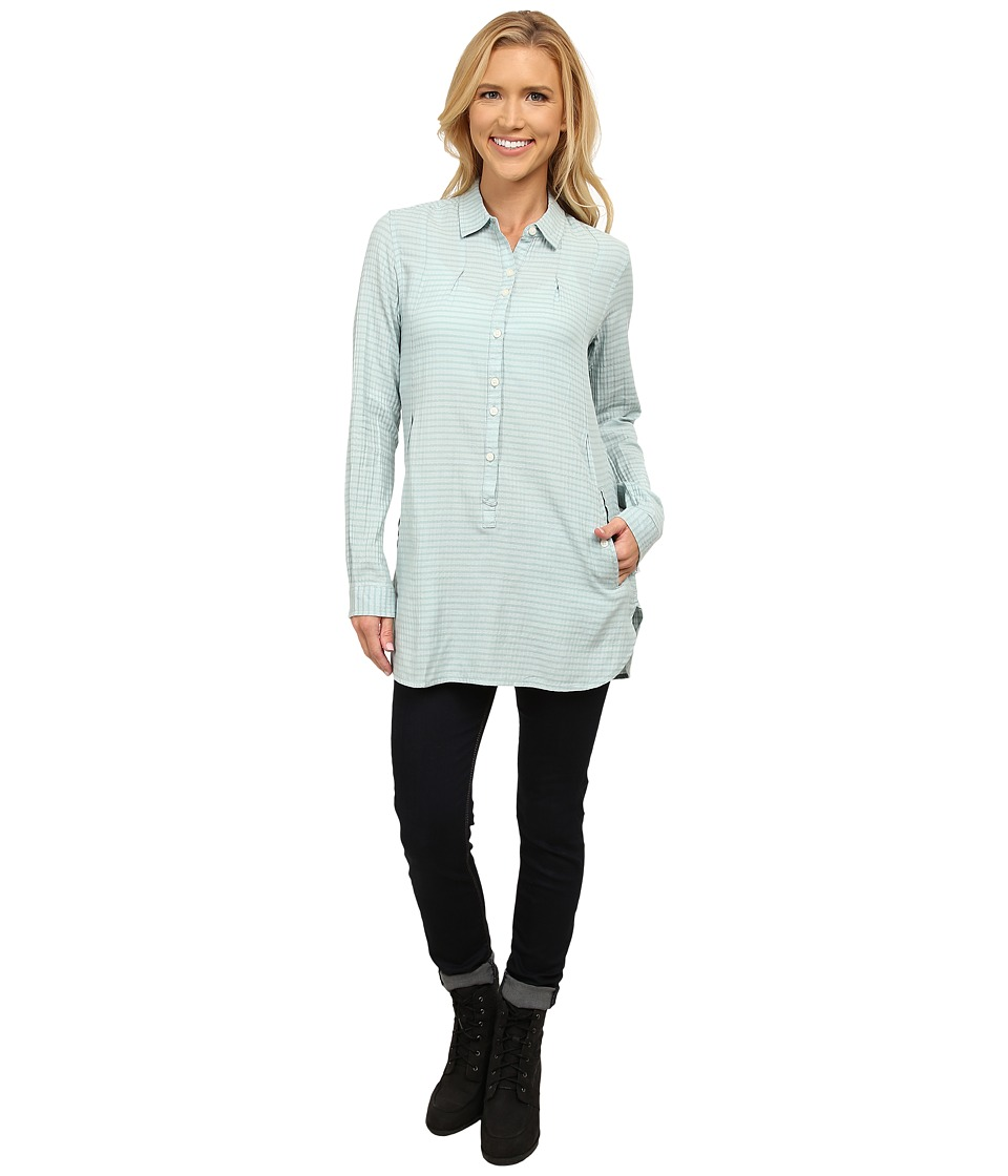 Toad&Co - Mixologist Tunic (Arctic) Women's Long Sleeve Button Up