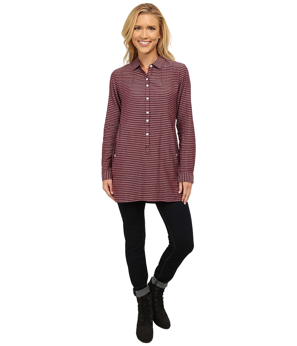 Toad&Co - Mixologist Tunic (Tyrian Purple) Women's Long Sleeve Button Up