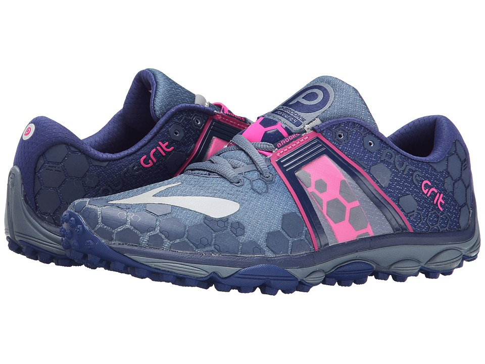 Brooks - PureGrit 4 (China Blue/Blueprint/Pink Glo) Women's Running Shoes