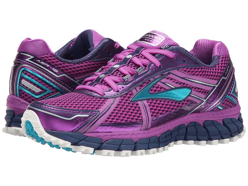 Brooks - Adrenaline ASR 12 (Purple Cactus Flower/Bluebird/Blue Print) Women's Running Shoes