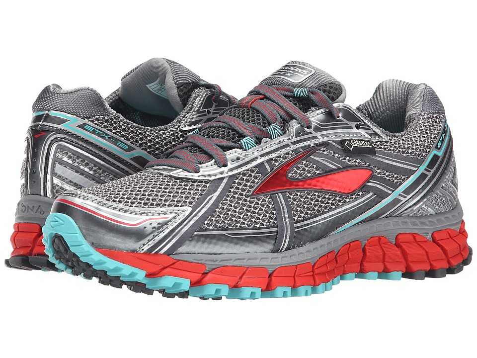 Brooks - Adrenaline ASR 12 GTX (Anthracite/Hibiscus/Capri) Women's Running Shoes