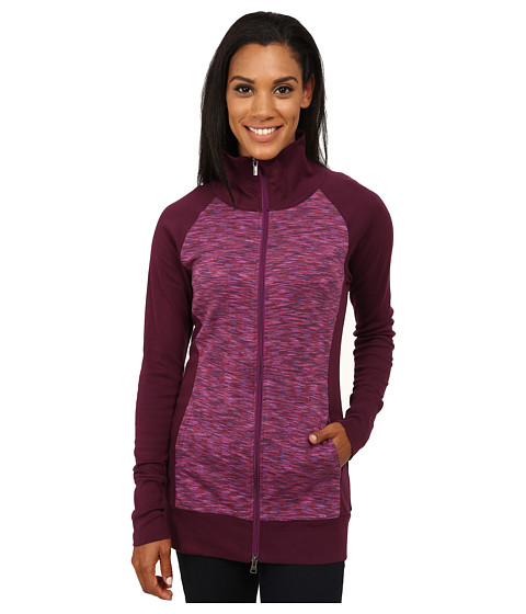 Columbia - Outerspaced Hybrid Long Full Zip (Purple Dahlia) Women
