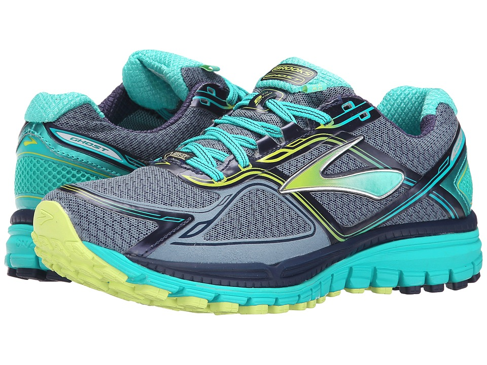 Brooks - Ghost 8 GTX (Storm/Sharp Green/Ceramic) Women's Running Shoes