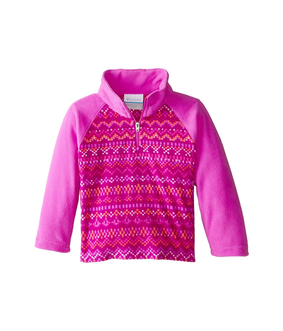 Columbia Kids - Glacial II Fleece Print Half Zip (Little Kids/Big Kids) (Foxglove Fairisle/Foxglove) Girl's Fleece