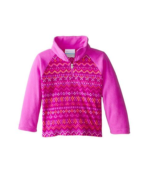 Columbia Kids - Glacial II Fleece Print Half Zip (Little Kids/Big Kids) (Foxglove Fairisle/Foxglove) Girl
