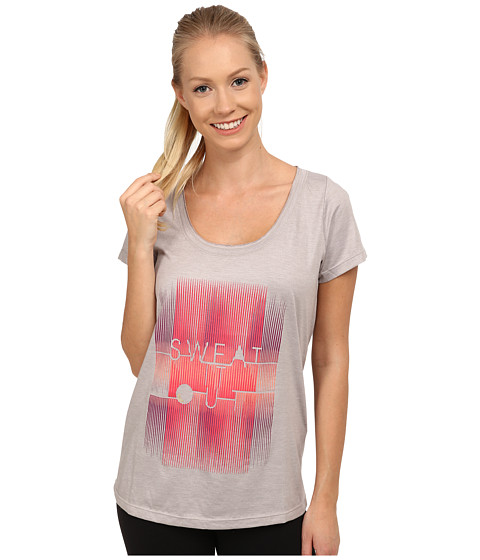 Lole - Maddie Top (Warm Grey Sweat It Out) Women's Short Sleeve Pullover