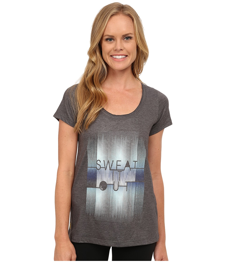 Lole - Maddie Top (Dark Charcoal Sweat It Out) Women's Short Sleeve Pullover