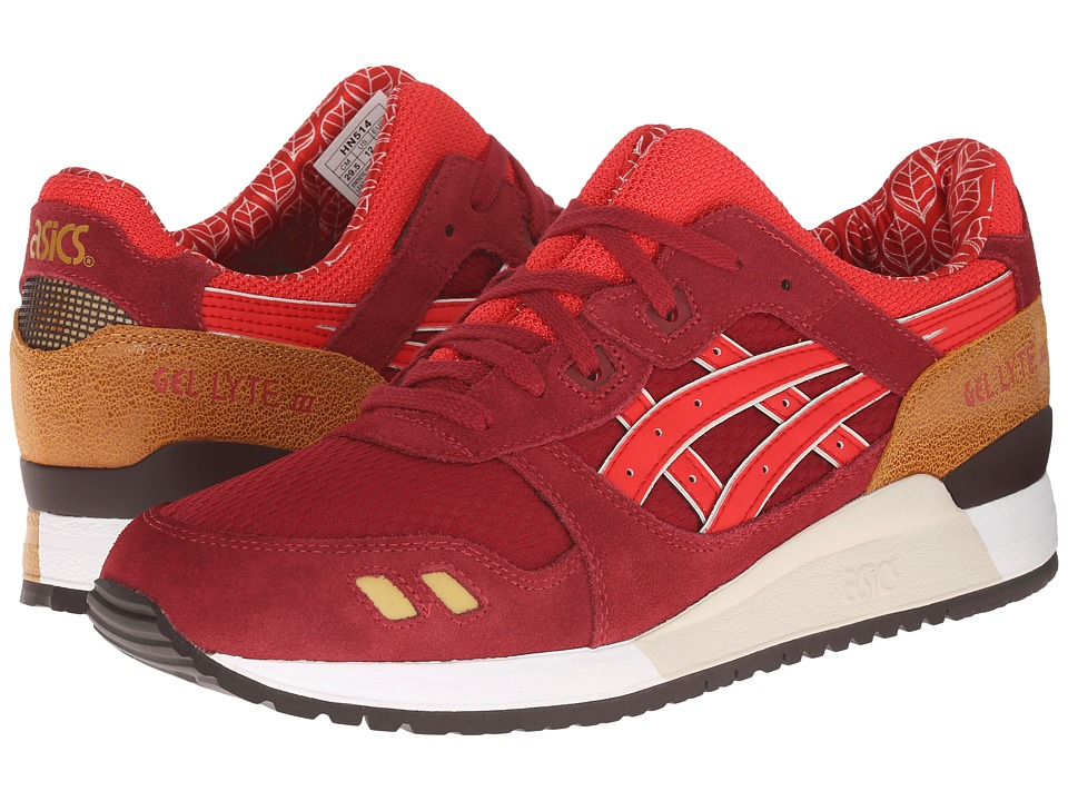 Onitsuka Tiger by Asics - Gel-Lyte III (Burgundy/Fiery Red) Classic Shoes