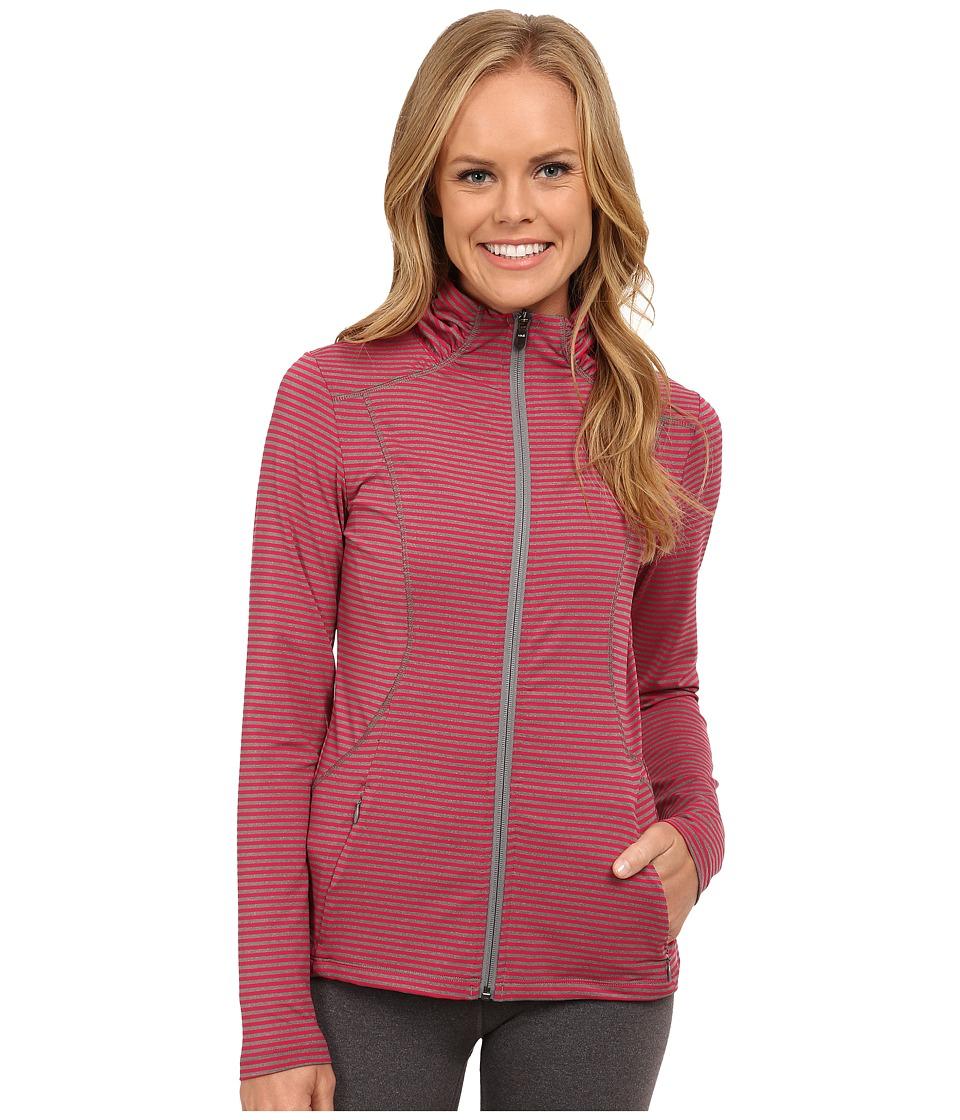 Lole - Essential Cardigan (Roses Stripe) Women's Sweater