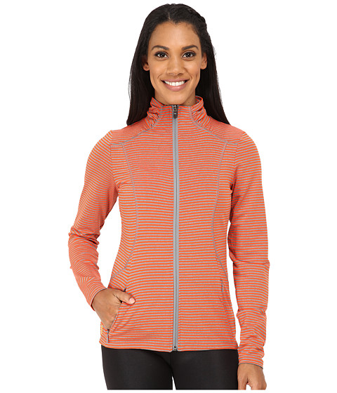Lole - Essential Cardigan (Tango Stripe) Women