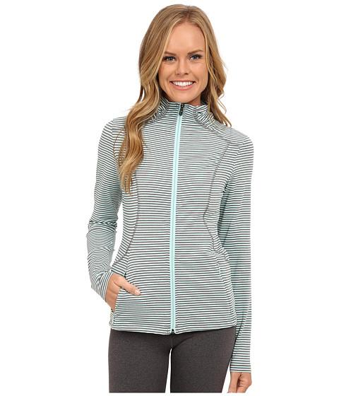 Lole - Essential Cardigan (Clearly Aqua Stripe) Women's Sweater