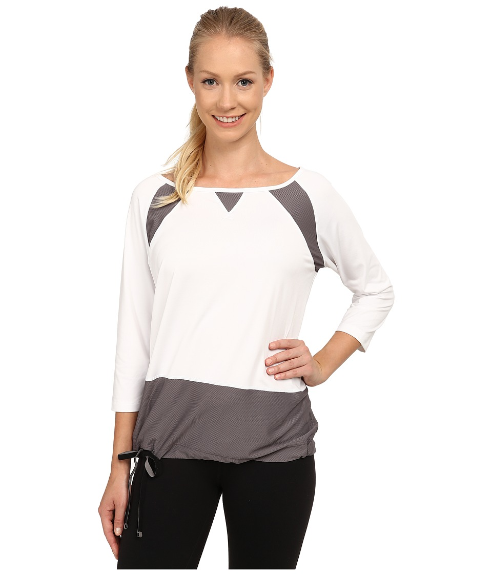 Lole - Zellie Top (White) Women's Long Sleeve Pullover
