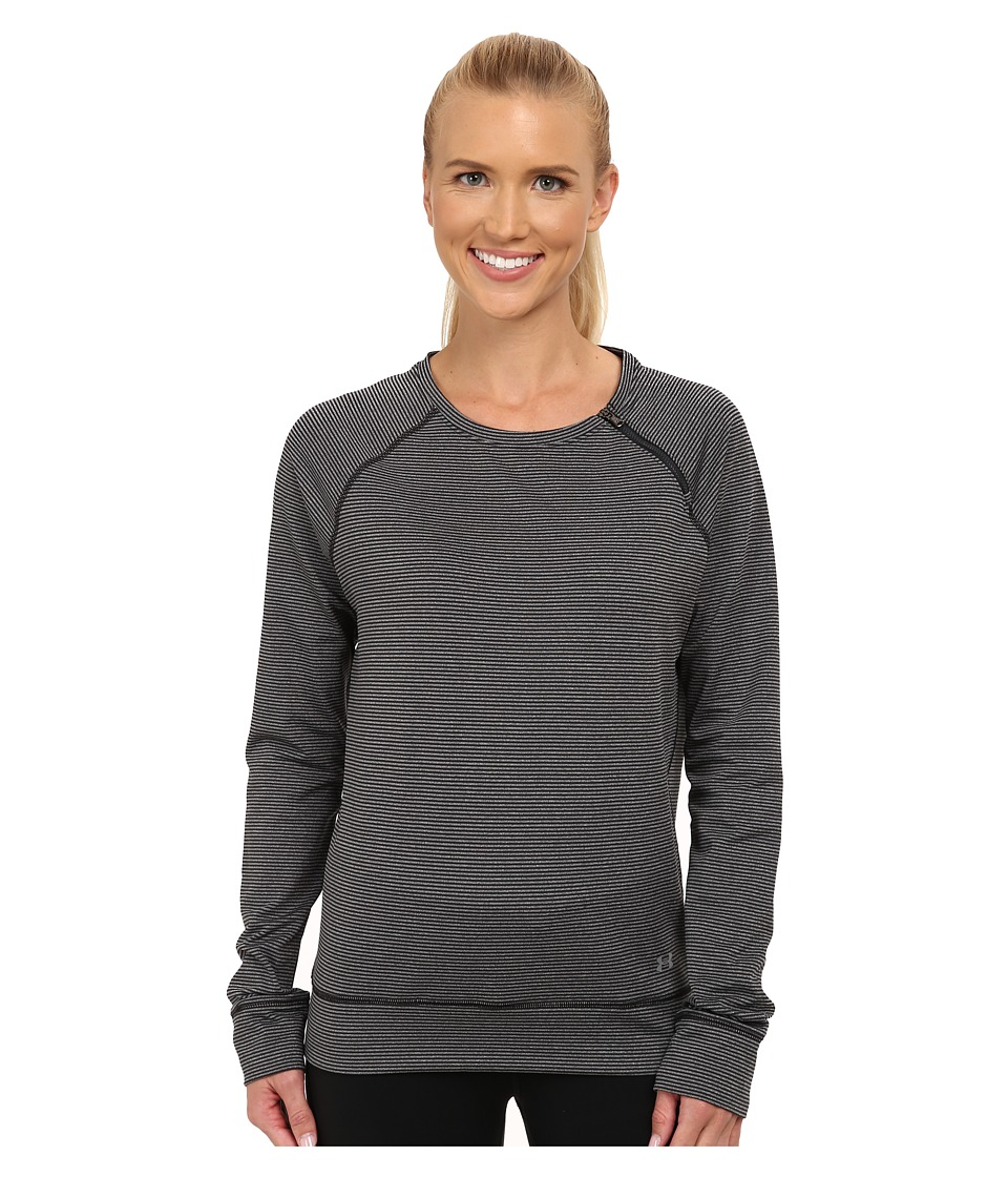 Under Armour - UA ColdGear(r) Cozy Zip Crew (Black/Metallic Silver) Women's Long Sleeve Pullover