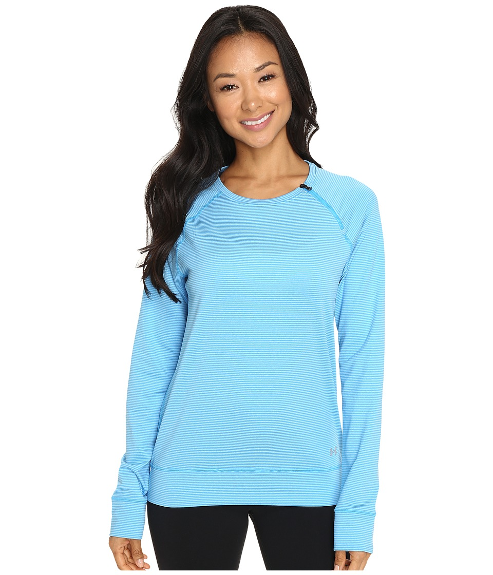 Under Armour - UA ColdGear(r) Cozy Zip Crew (Jazz Blue/Metallic Silver) Women's Long Sleeve Pullover