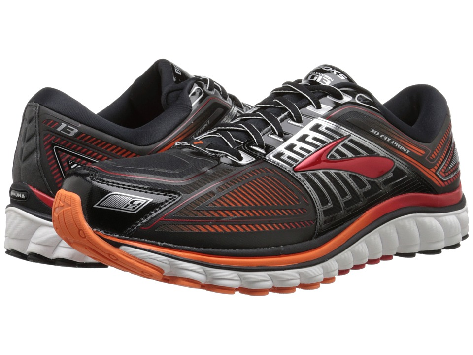 Brooks Glycerin 13 (Black/High Risk Red/Silver) Men