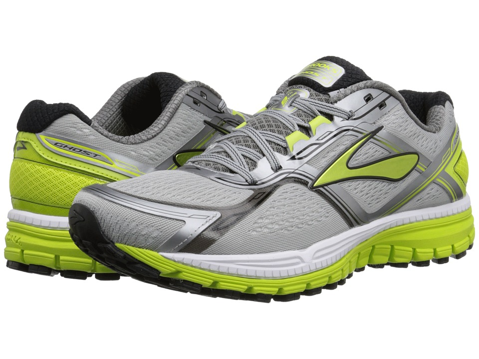 Brooks - Ghost 8 (Metallic Charcoal/Lime Punch/Silver) Men's Running Shoes