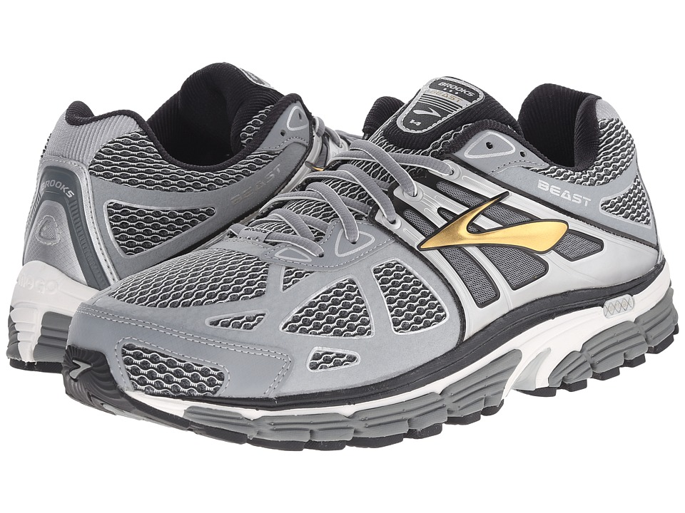ba81b88b7f5bf BROOKS. Brooks - Beast 14 (Silver Black Gold) Men S Running Shoes