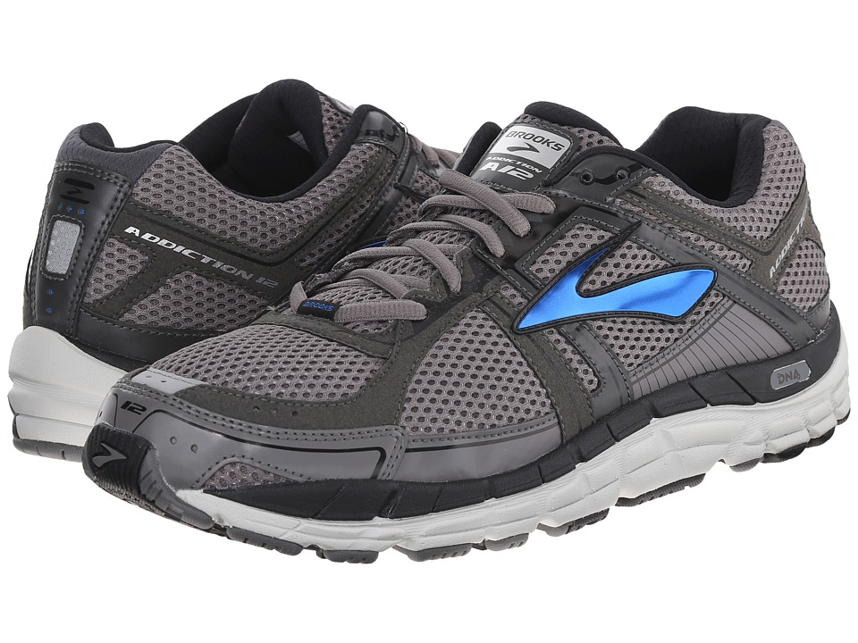 Brooks - Addiction 12 (Mako/Anthracite/Brooks Blue) Men's Running Shoes