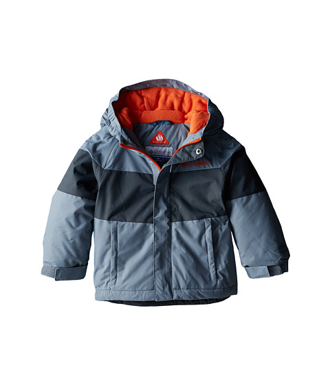 Columbia Kids - Alpine Action Jacket (Toddler) (Tradewinds Grey/Graphite/Tangy Orange) Boy