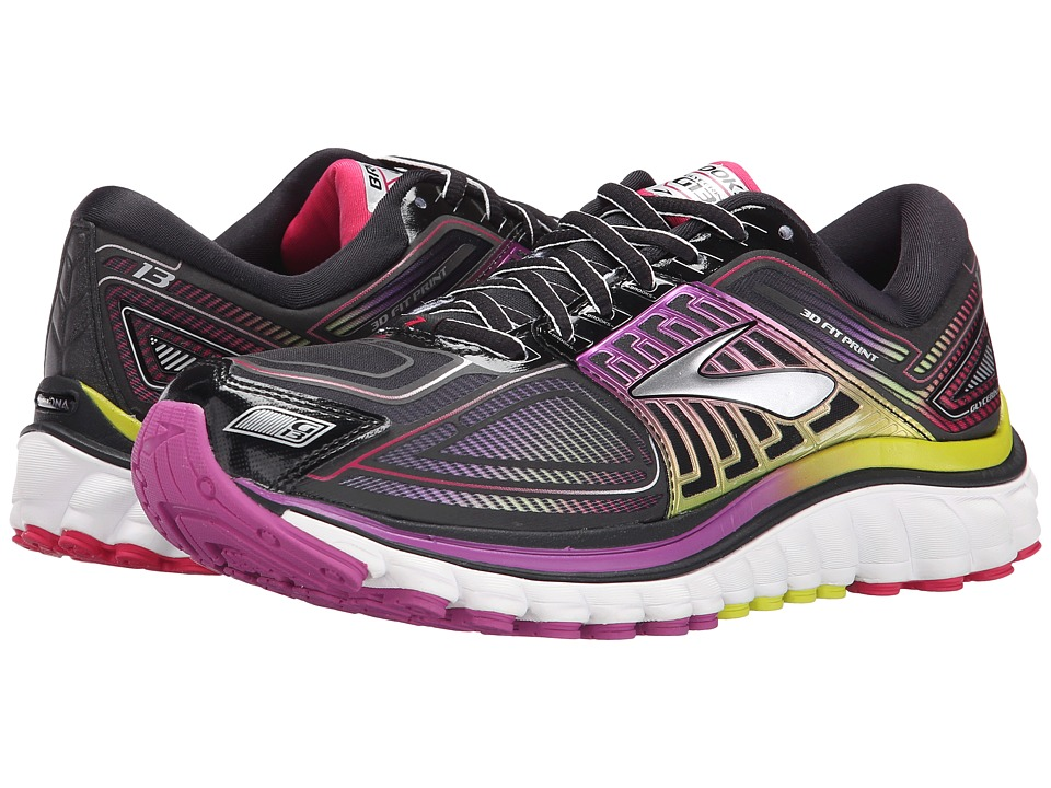 Brooks - Glycerin 13 (Black/Hyacinth Violet/Virtual Pink) Women's Running Shoes