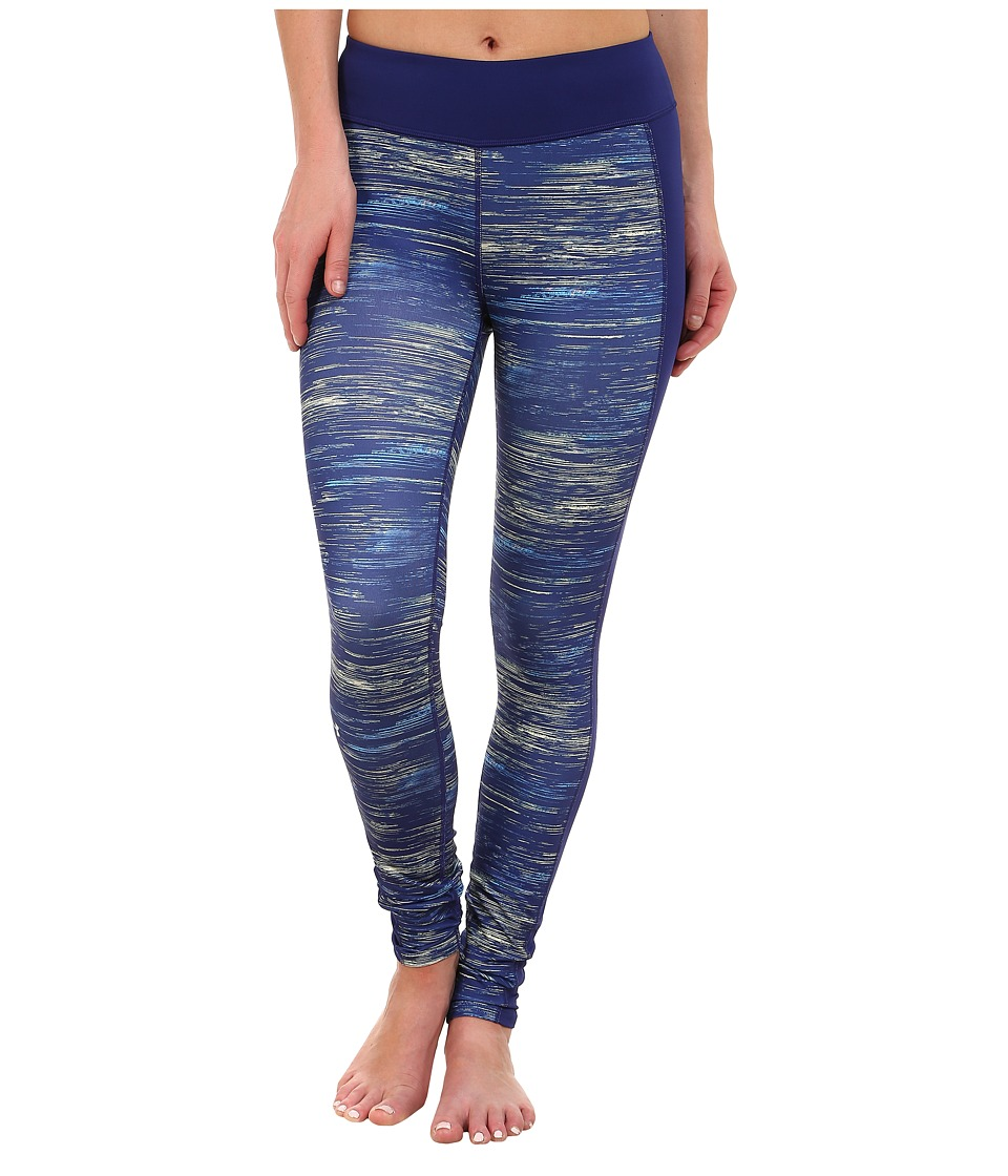 Under Armour - UA Armour ColdGear(r) Printed Leggings (Europa Purple/Metallic Silver/Multi) Women's Casual Pants