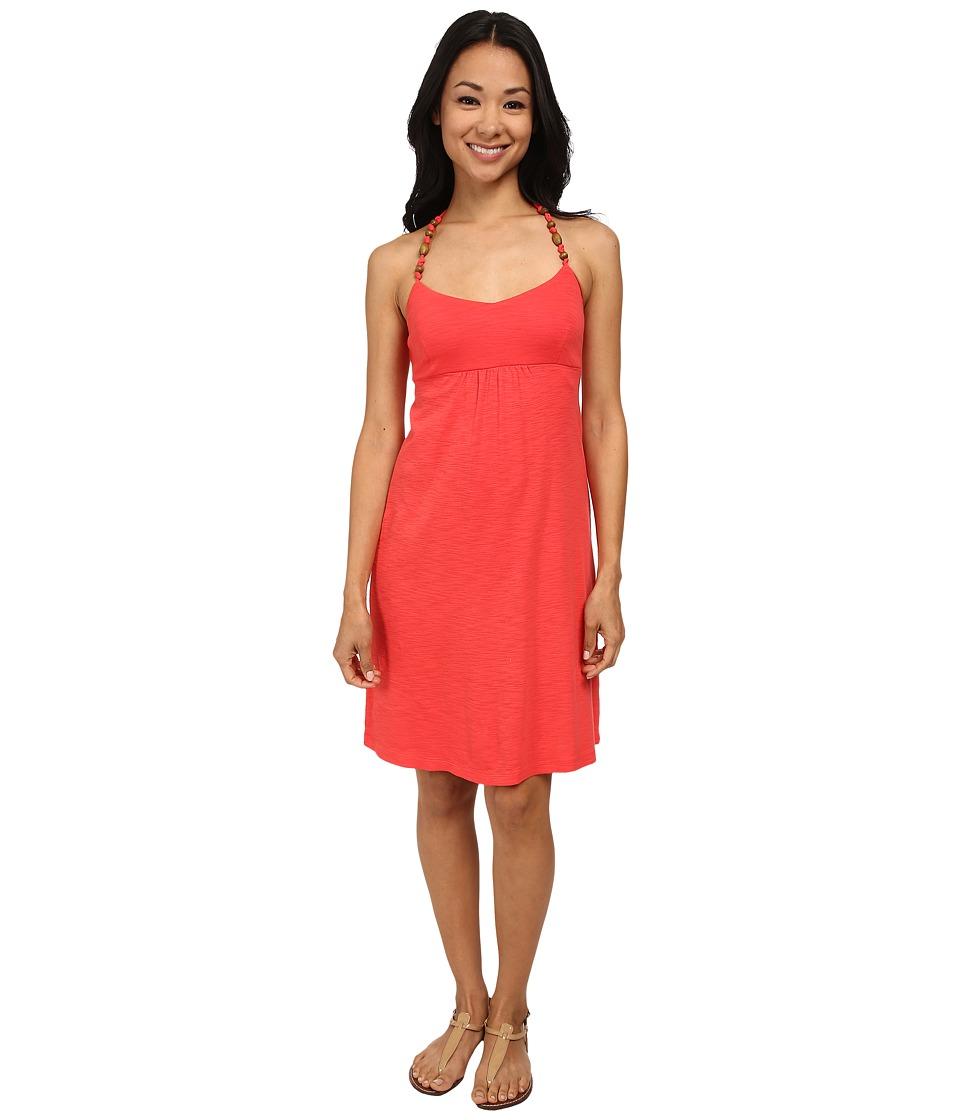 Tommy Bahama - Ashby Rib Halter Dress (Bright Coral) Women