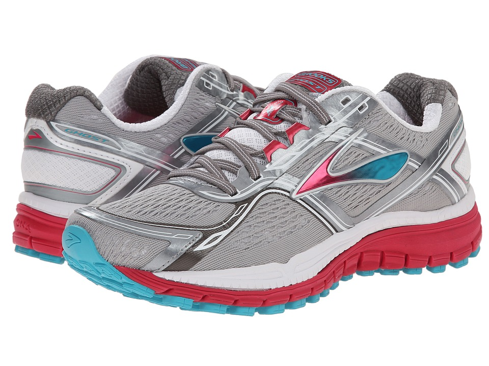 Brooks Ghost 8 (Metallic Charcoal/Bright Rose/Bluebird) Women