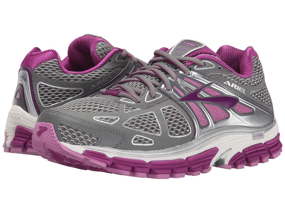 Brooks - Ariel 14 (Smoked Pearl/Hollyhock/Violet) Women's Running Shoes