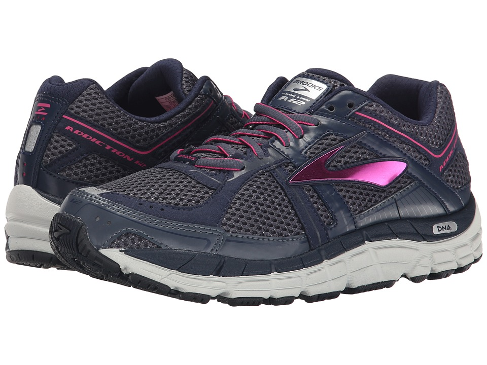 Brooks - Addiction 12 (Ombre Blue/Obsidian/Fuchsia Purple) Women's Running Shoes