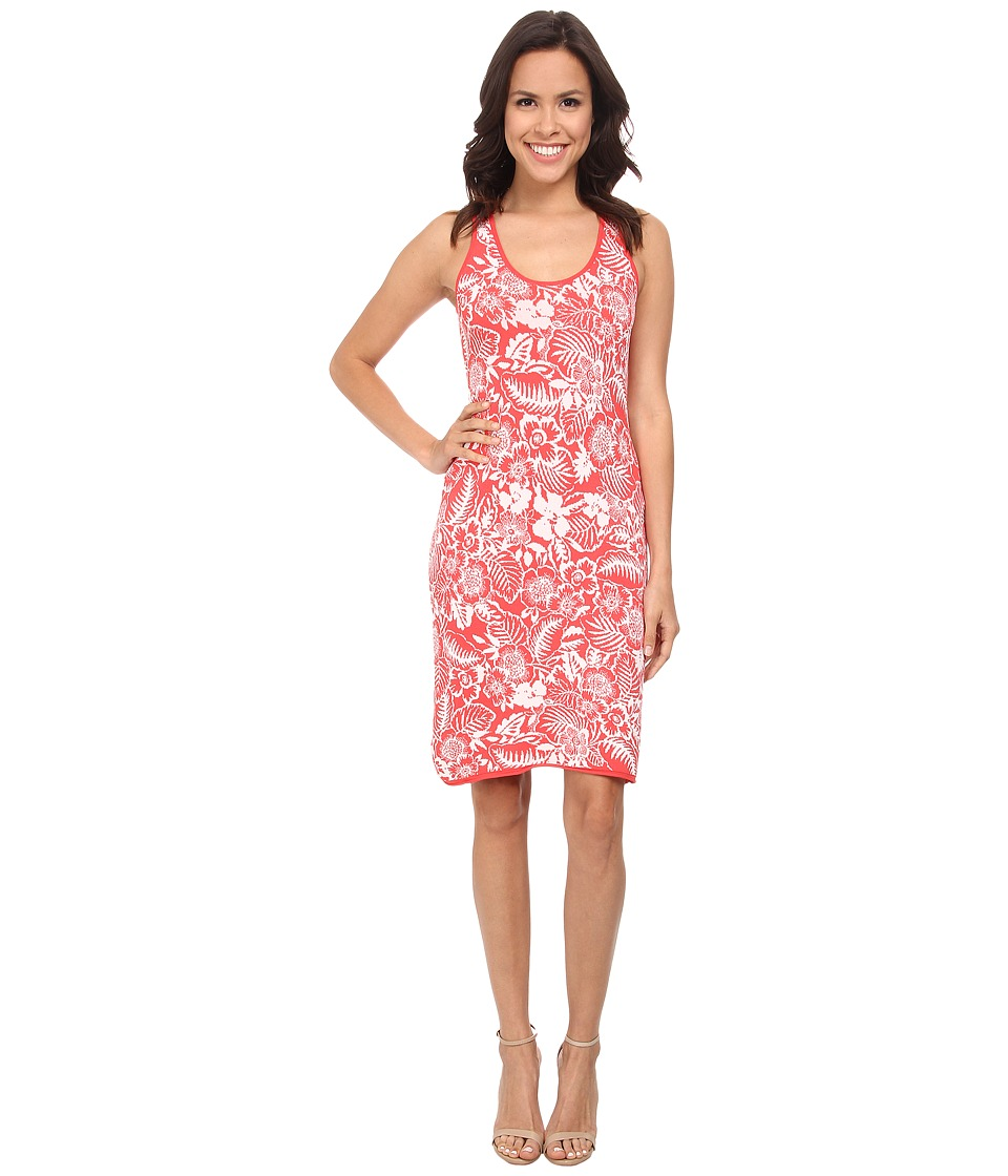 Tommy Bahama - Del Lago Floral Dress (Bright Coral) Women