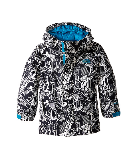 The North Face Kids - Darten Insulated Jacket (Little Kids/Big Kids) (Exploded Glacier Print) Boy