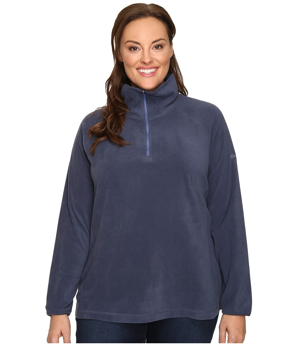 Columbia - Plus Size Glacial Fleece III 1/2 Zip (Nocturnal) Women's Fleece