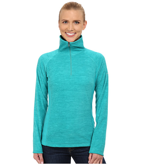 Columbia - Glacial Fleece III Print 1/2 Zip (Mayan Green Spacedye) Women