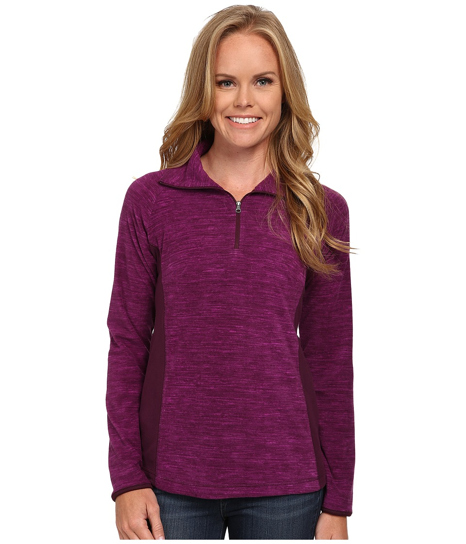 Columbia - Glacialtm Fleece III Print 1/2 Zip (Purple Dahlia Spacedye) Women's Long Sleeve Pullover