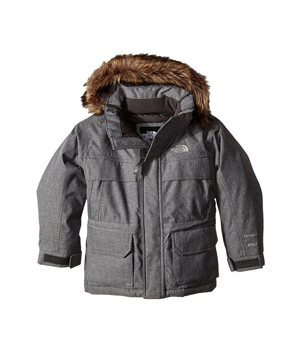 The North Face Kids - McMurdo Down Parka (Little Kids/Big Kids) (Charcoal Grey Heather) Boy