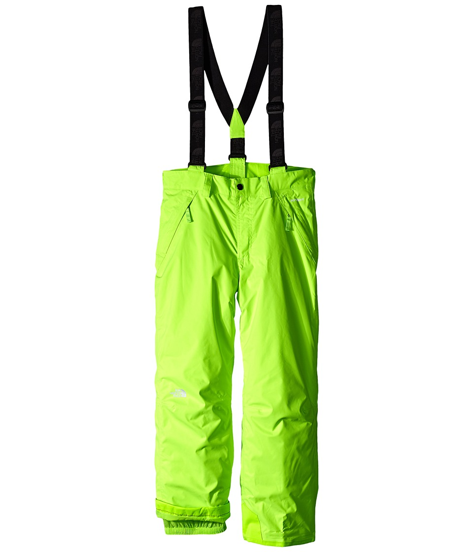 The North Face Kids - Snowquest Suspender Pants (Little Kids/Big Kids) (Safety Green) Boy's Outerwear