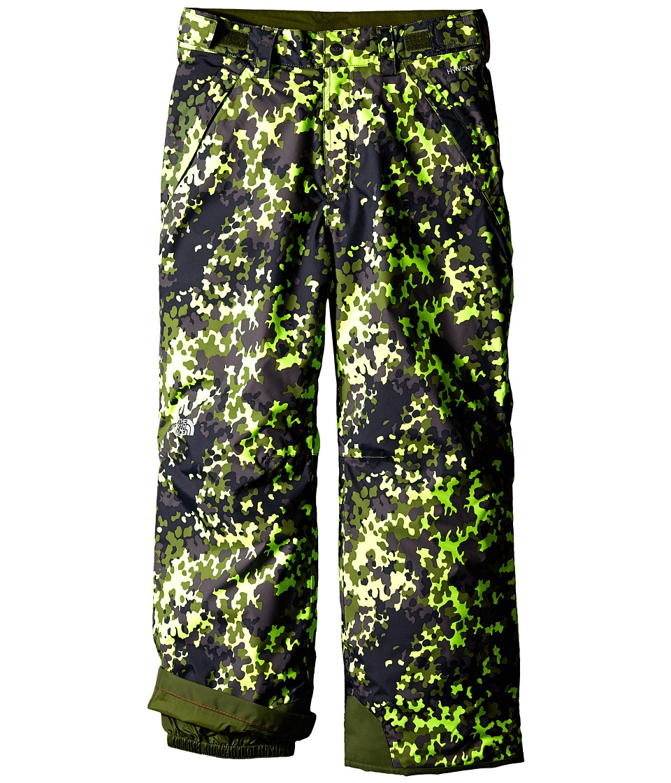 The North Face Kids - Freedom Printed Pants (Little Kids/Big Kids) (Safety Green Camo Print) Boy's Outerwear