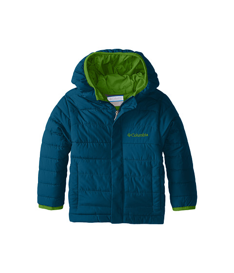 Columbia Kids - Powder Lite Puffer (Toddler) (Deep Wave/Cyber Green) Boy