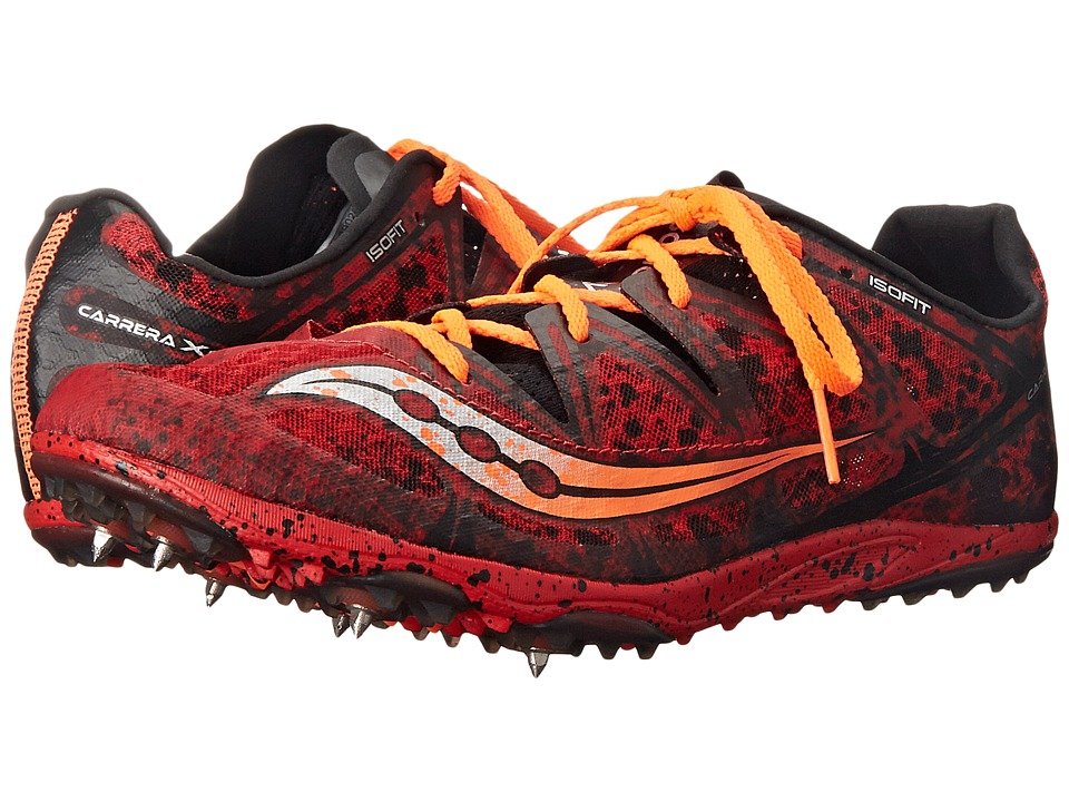 Saucony - Carrera XC (Spike) (Red/Orange) Men's Running Shoes
