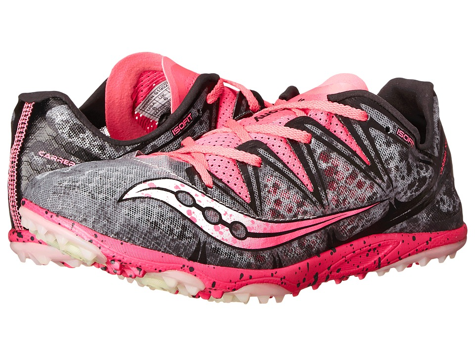 Saucony - Carrera XC Flat (Grey/Vizi Pink) Women's Shoes