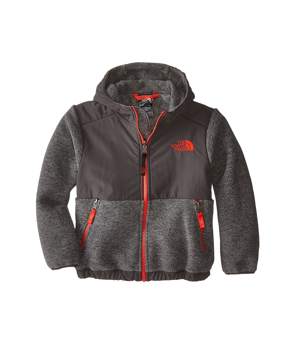 The North Face Kids - Denali Hoodie (Little Kids/Big Kids) (Recycled Charcoal Grey/Fiery Red) Boy's Sweatshirt