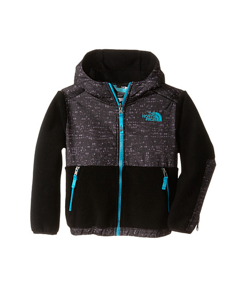 The North Face Kids - Denali Hoodie (Little Kids/Big Kids) (Recycled TNF Black/Enamel Blue) Boy's Sweatshirt