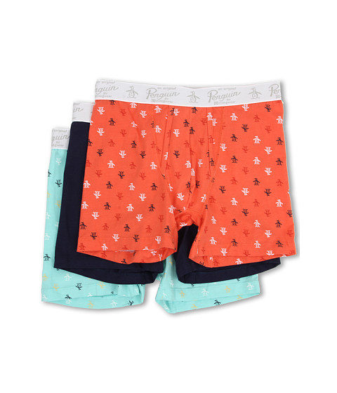 Original Penguin - 3-Pack Boxer Brief (Coral/Navy/Aqua) Men's Underwear