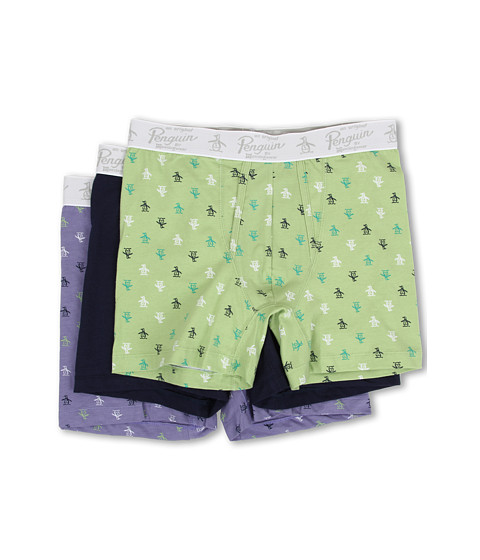 Original Penguin - 3-Pack Boxer Brief (Green/Navy/Lavender) Men
