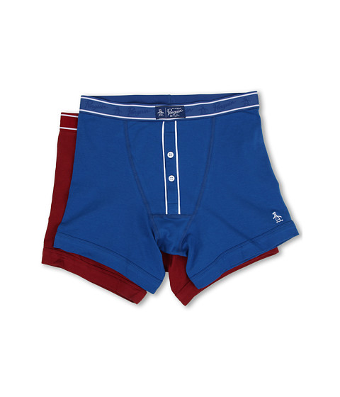 Original Penguin - 2-Pack Earl Boxer Brief (Classic Blue/Red) Men's Underwear