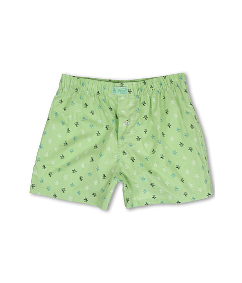 Original Penguin - Penguin Woven Boxer (Green) Men's Underwear