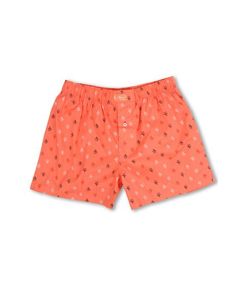 Original Penguin - Penguin Woven Boxer (Coral) Men's Underwear